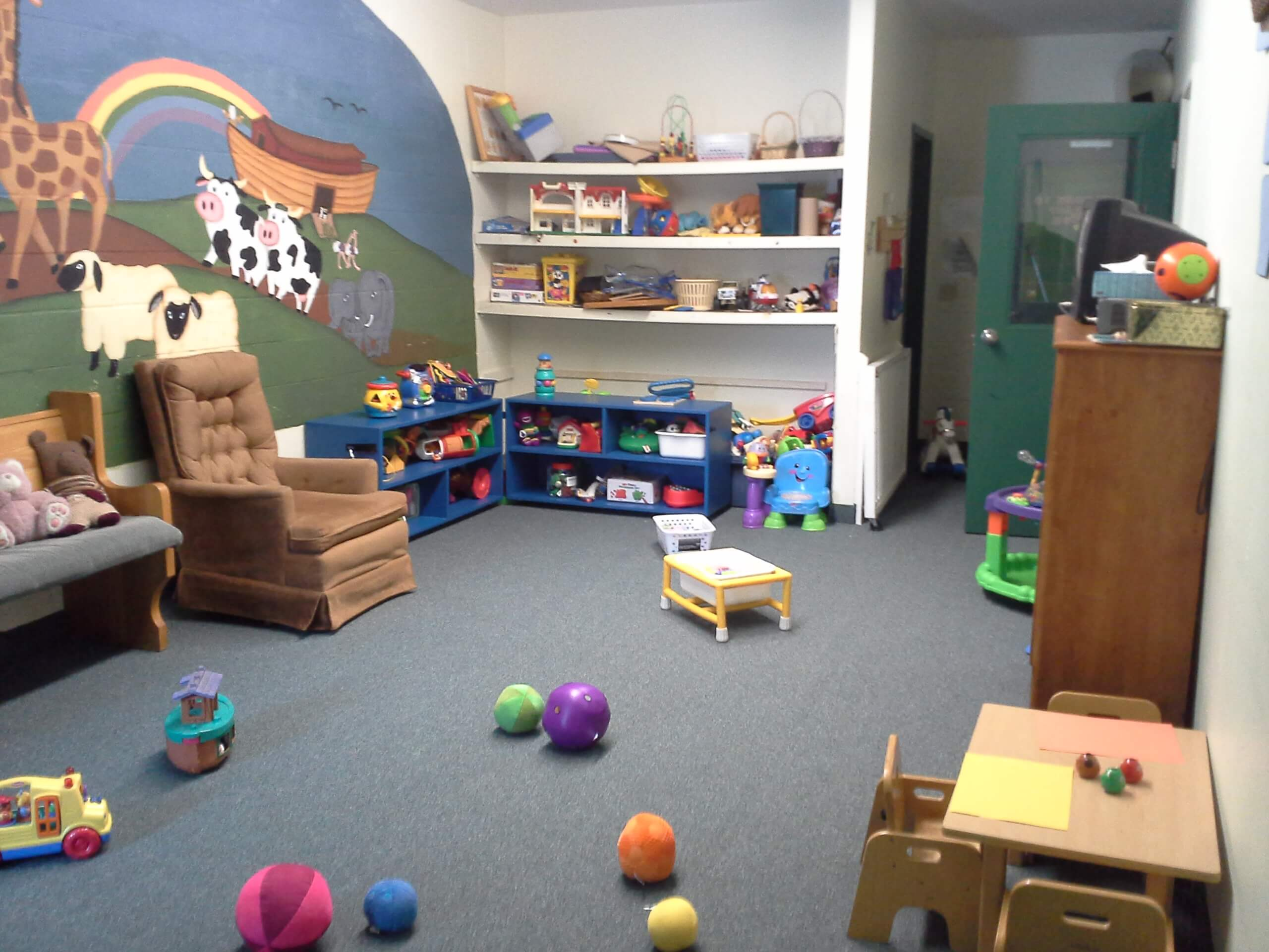 play room with chair